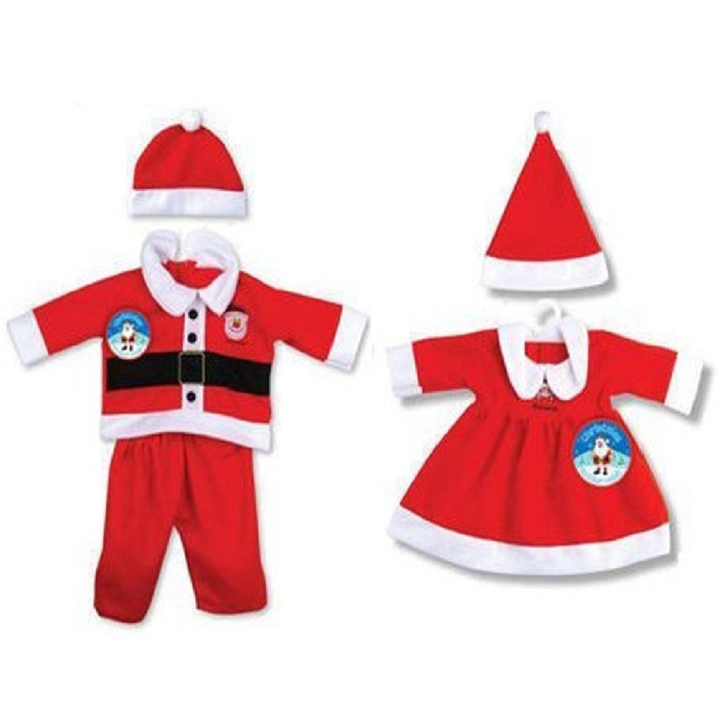 Toddler baby christmas santa xmas outfit fancy dress costume girls