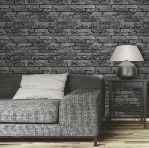 NEW LUXURY DISTINCTIVE BRICK WALL STONE ROCK SLATE EFFECT 10M WALLPAPER ROLL