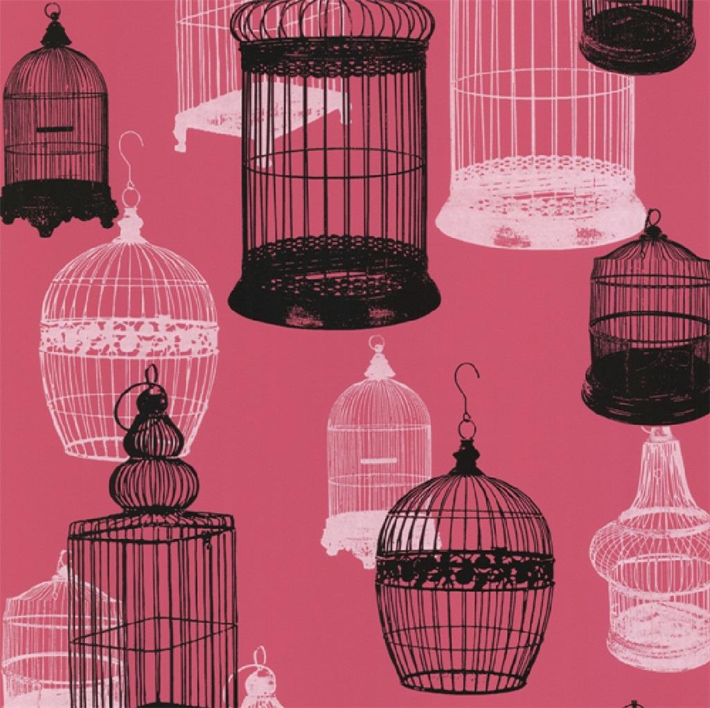 New luxury silk texture zinc bird parrot cage wallpaper 10m roll decor art - Decoration cage oiseau ...