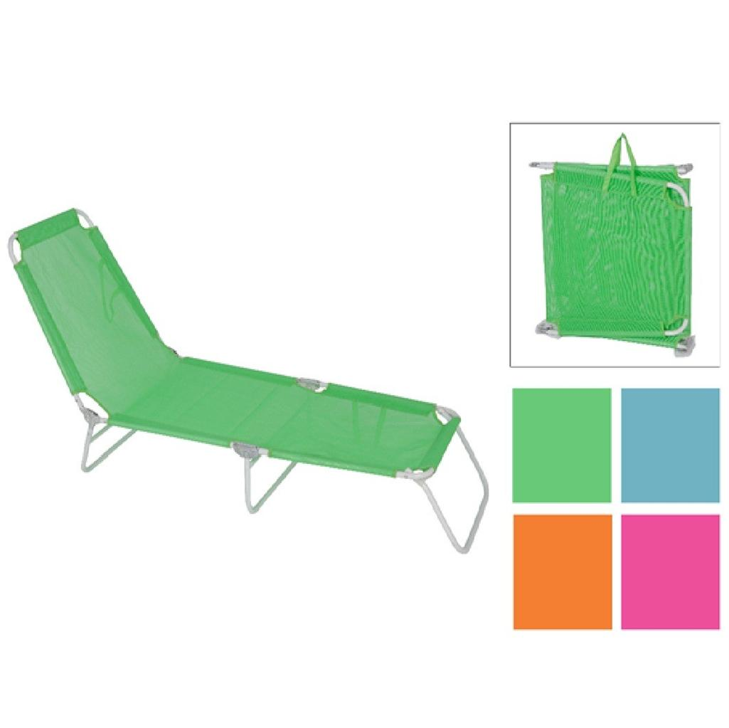 New folding adjustable sun lounger bed mat camping garden for Garden pool loungers