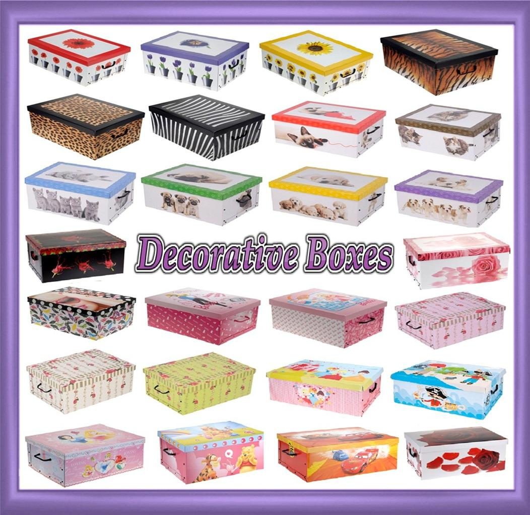 Decorative Cardboard Storage Boxes