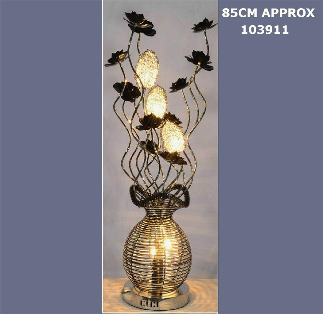 New Modern Aluminium Floral Leaf Floor Table Lamp