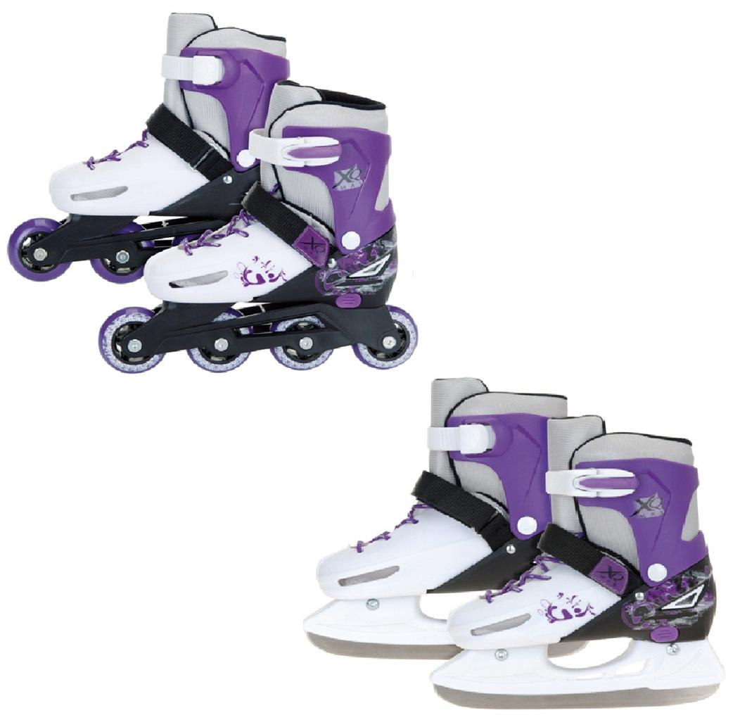 New Xq Max Girls Inline Roller Skates Ice Skating Boots 2 In 1