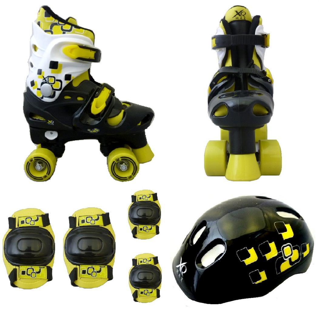 set rollers gar ons 4 roues enfants s curit pads genoux. Black Bedroom Furniture Sets. Home Design Ideas