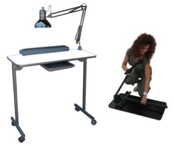 Dina meri portable manicure table nail care center 310p ebay for Mobile manicure table