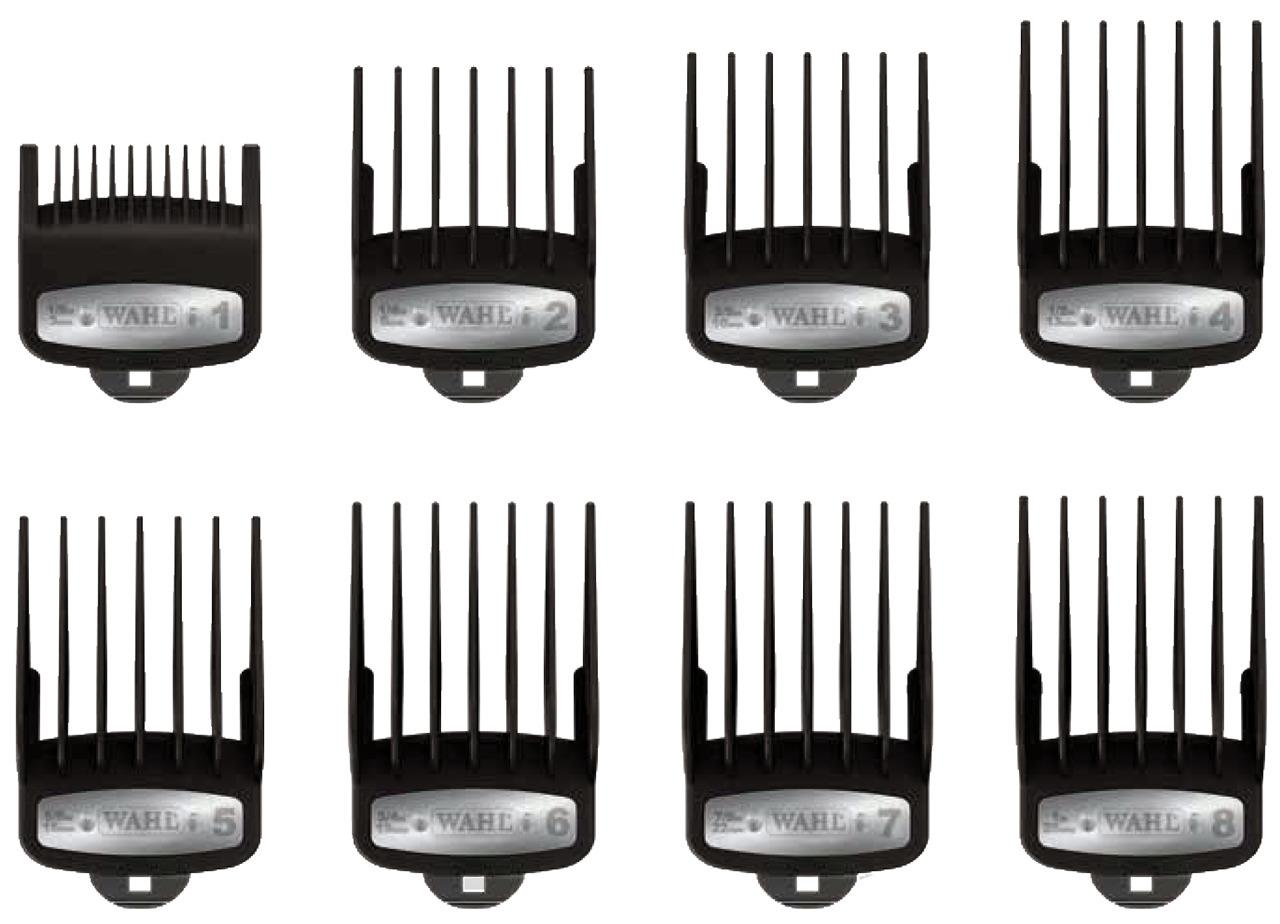 wahl professional 8 pack premium hair clipper cutting guide combs caddy 3171 500 ebay. Black Bedroom Furniture Sets. Home Design Ideas