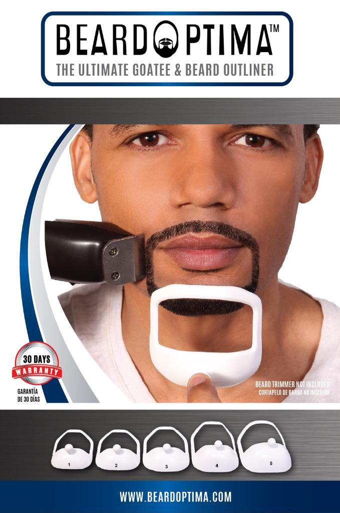Beardoptima Goatee Outliner Perfect Beard Shaper Facial