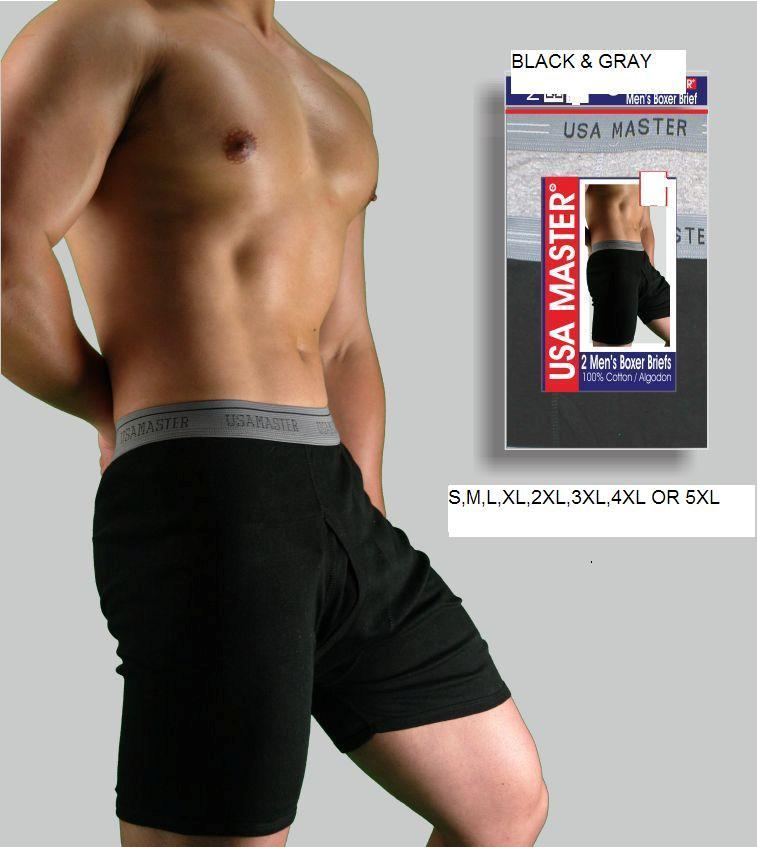 6-Pcs-MENS-100-COTTON-BOXER-BRIEFS-UNDERWEAR-S-M-L-XL-2XL-3XL