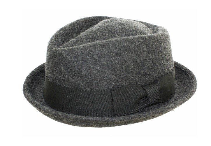 Mens-100-Wool-Felt-Soft-Crushable-Stingy-Brim-Fedora-Hats-HE06