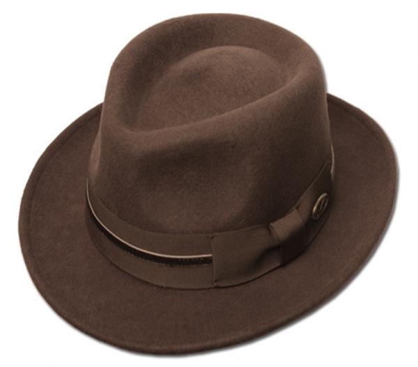 Men's 100% Soft & Crushable Wool Felt Indiana Jones Cowboy Safari Fedora Hats