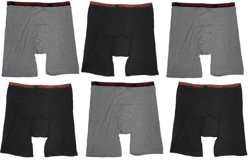 6-Mens-Big-Tall-USA-Classic-Design-Boxer-Briefs-Underwear-Shorts-4XL-5XL-6XL