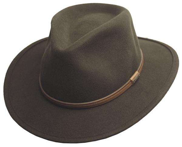 Men-039-s-Crushable-Wool-Felt-Outback-Wide-Brim-Classic-Safari-Fedora-Hats-HE44