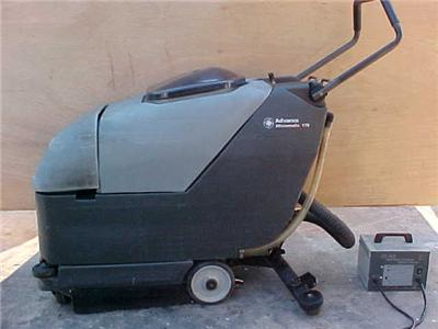Advance micromatic 17b walk behind floor scrubber sweeper for 17 floor scrubber