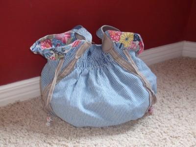 Make an Autumn Bucket Bag! Crochet a Log Cabin Afghan