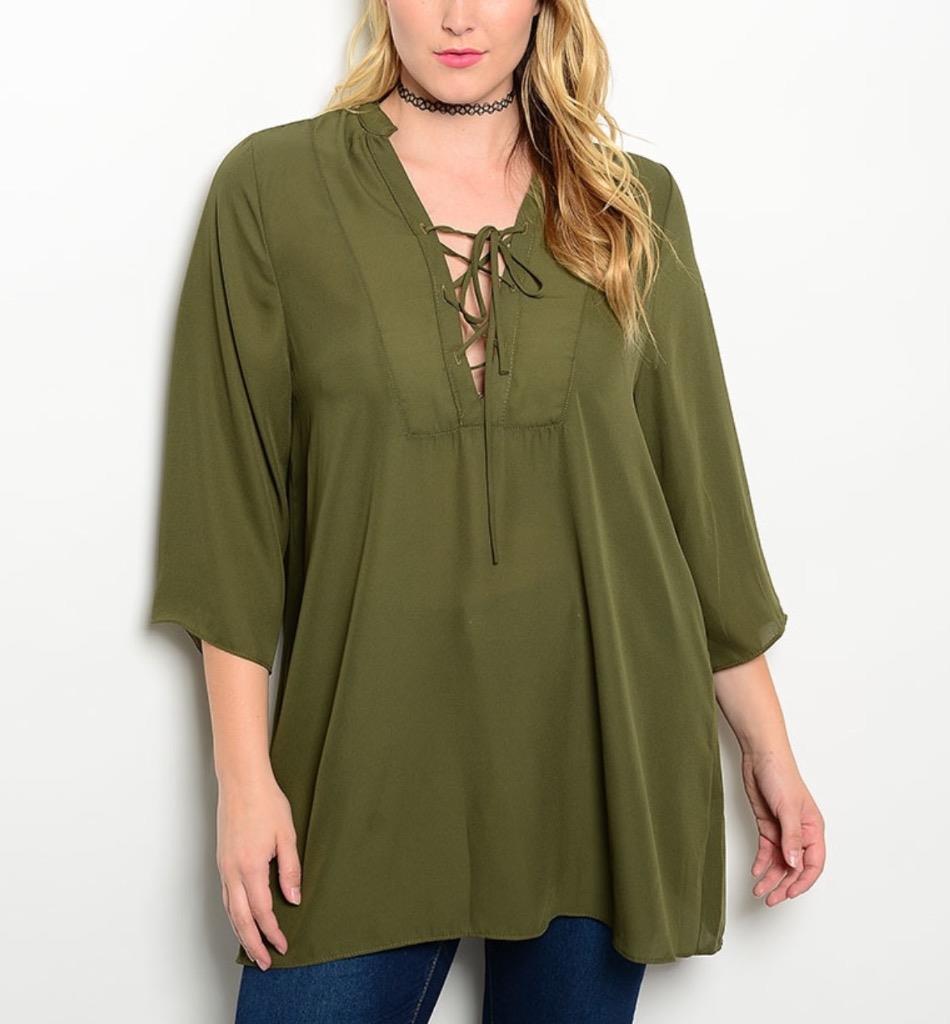 PLUS size 1X 2X 3X Tunic blouse TORRID gift BOW corset CHIIFON top ...