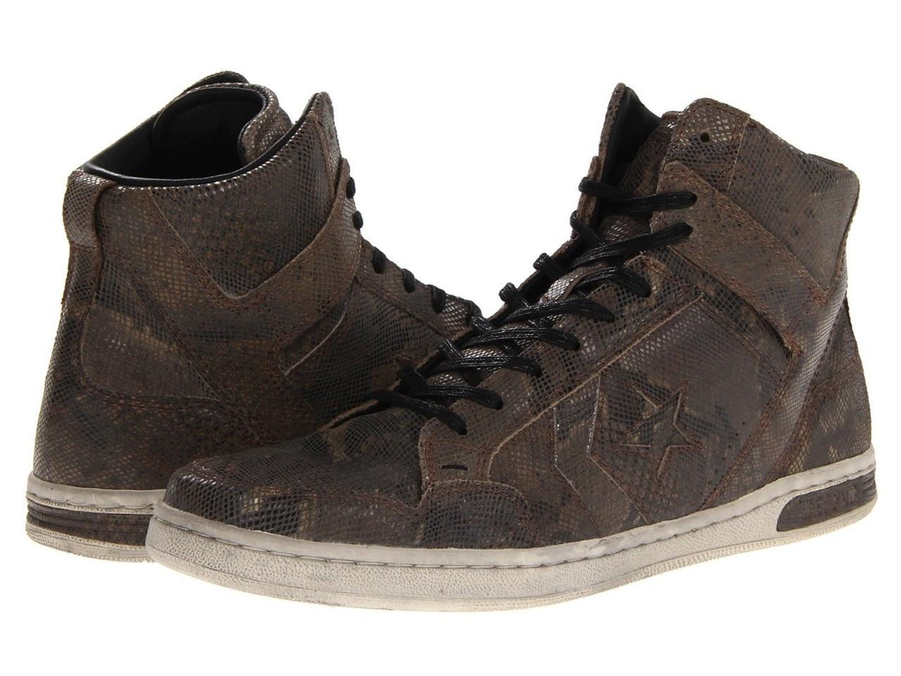 CONVERSE-X-BY-JOHN-VARVATOS-JV-WEAPON-MID-BROWN-BLACK-SNAKESKIN-HI-TOP-SNEAKERS