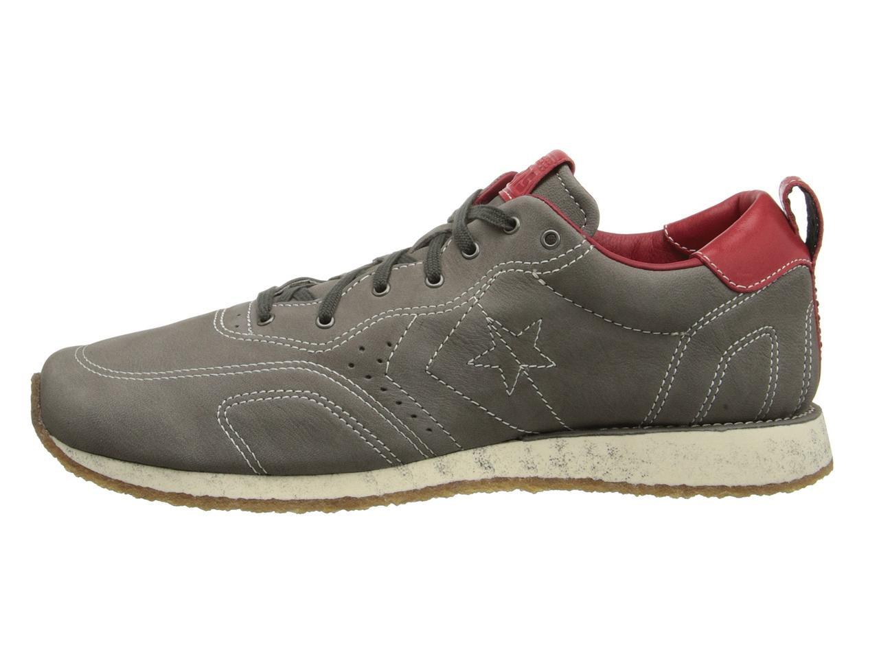 CONVERSE X BY JOHN VARVATOS RACER OX CHARCOAL LEATHER