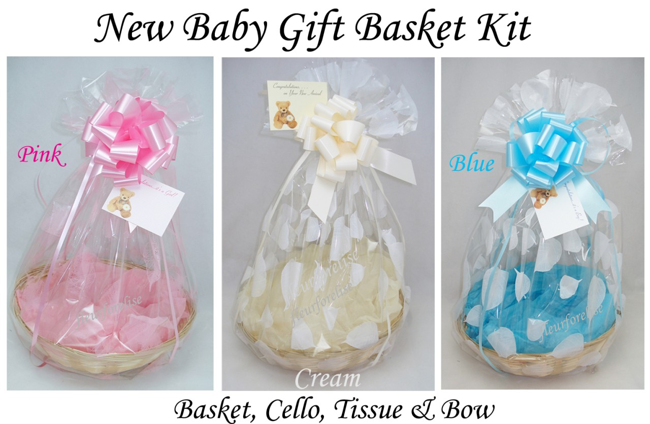 Baby Gift Basket Kit : Quot new baby diy gift wicker bread basket kit leaf