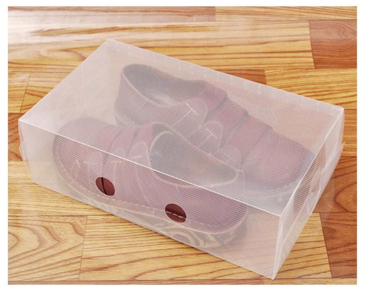 5 10 11 x clear plastic stackable shoe storage boxes organiser shoes unisex ebay. Black Bedroom Furniture Sets. Home Design Ideas
