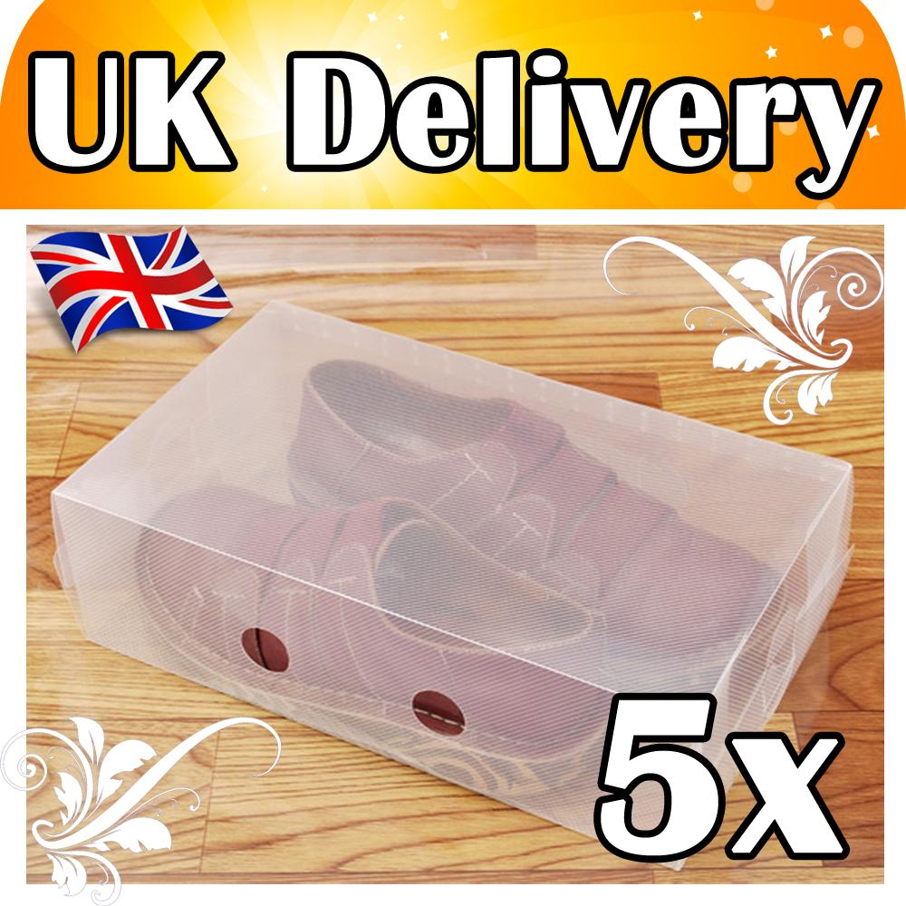 CLEAR-STACKABLE-PLASTIC-SHOE-STORAGE-BOXES-5-11-PCS