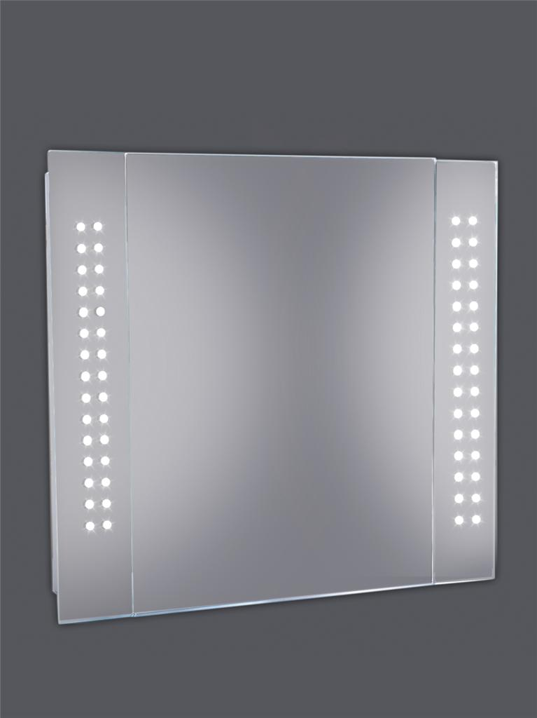 led slimline light illuminating bathroom makeup shaving mirror cabinet