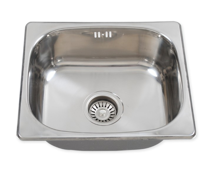 Square Bowl Stainless Steel Kitchen Sink Waste