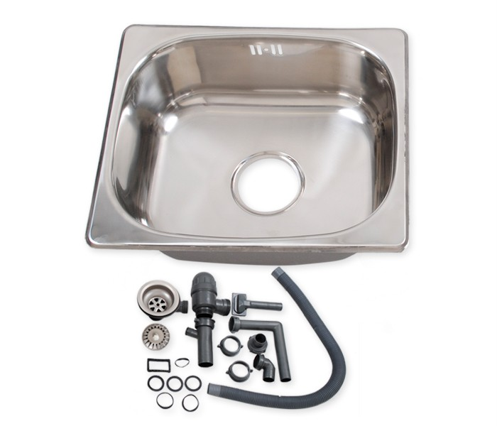 Square Stainless Steel Single One Bowl Small Kitchen Washing Sink ...