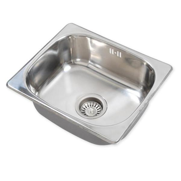 Square Small Kitchen Washing Sink Stainless Steel with Waste Drainer ...