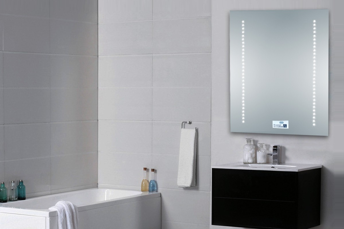 bathroom mirror 500 x 390mm ip44 sensor demister pad shaver socket