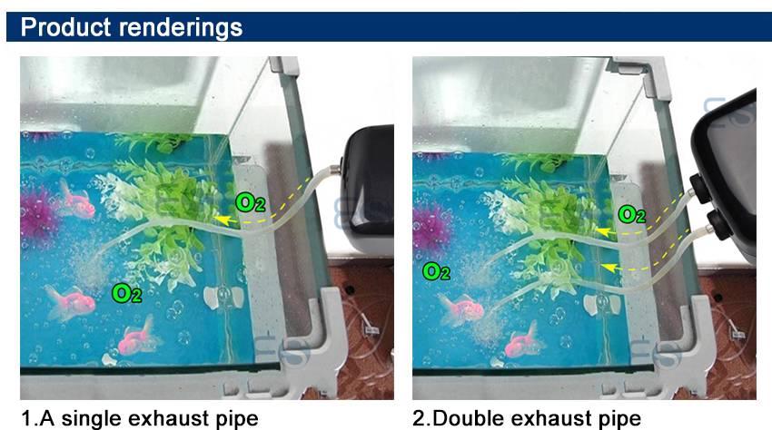 Hailea aquarium fish tank air pump adjustable flow rate 78 for Aquarium 600l