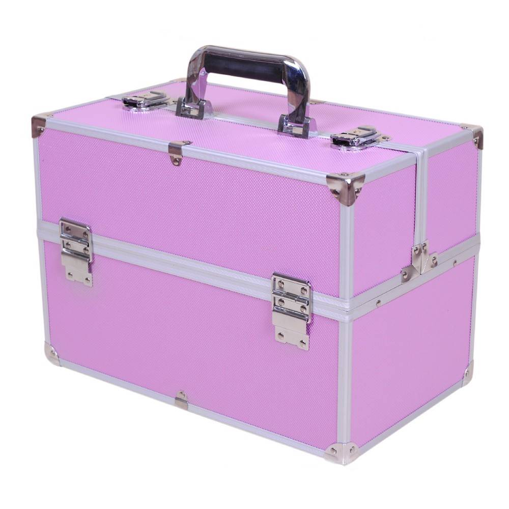 large beauty makeup box vanity case for cosmetic nail hair makeup ebay. Black Bedroom Furniture Sets. Home Design Ideas