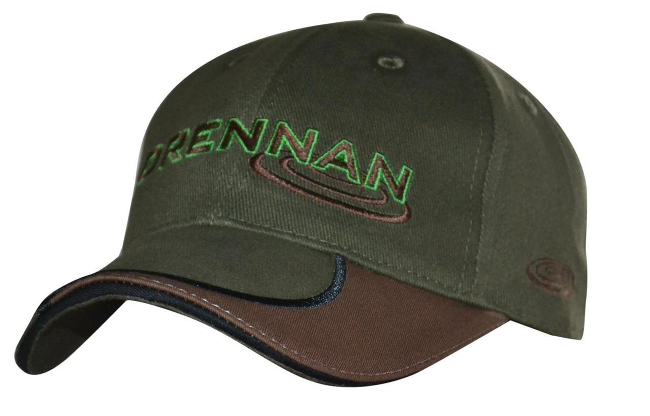 Drennan baseball cap cotton two tone peak adjustable for Fishing baseball caps