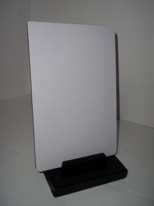 white dry erase board wood stand message desk top 69bw ebay. Black Bedroom Furniture Sets. Home Design Ideas