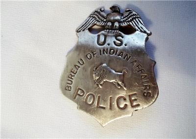 us bureau of indian affairs police badge shield old west western lawman ranger. Black Bedroom Furniture Sets. Home Design Ideas