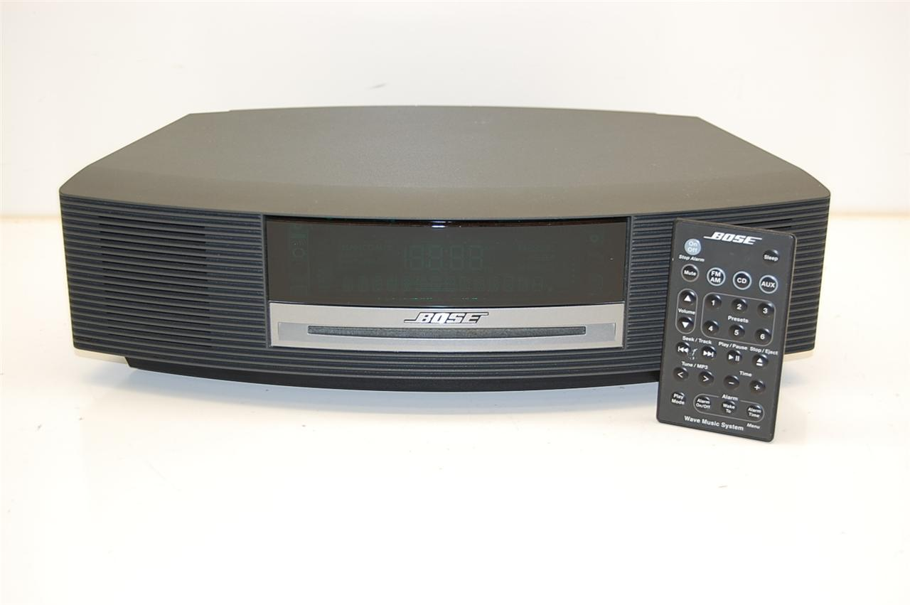 bose awrcc1 wave radio music system am fm cd ebay. Black Bedroom Furniture Sets. Home Design Ideas