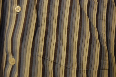 Fashion Mens Striped Short Sleeve on Mens Blue Stripe Kenneth Cole Reaction Large Short Sleeve Shirt Button