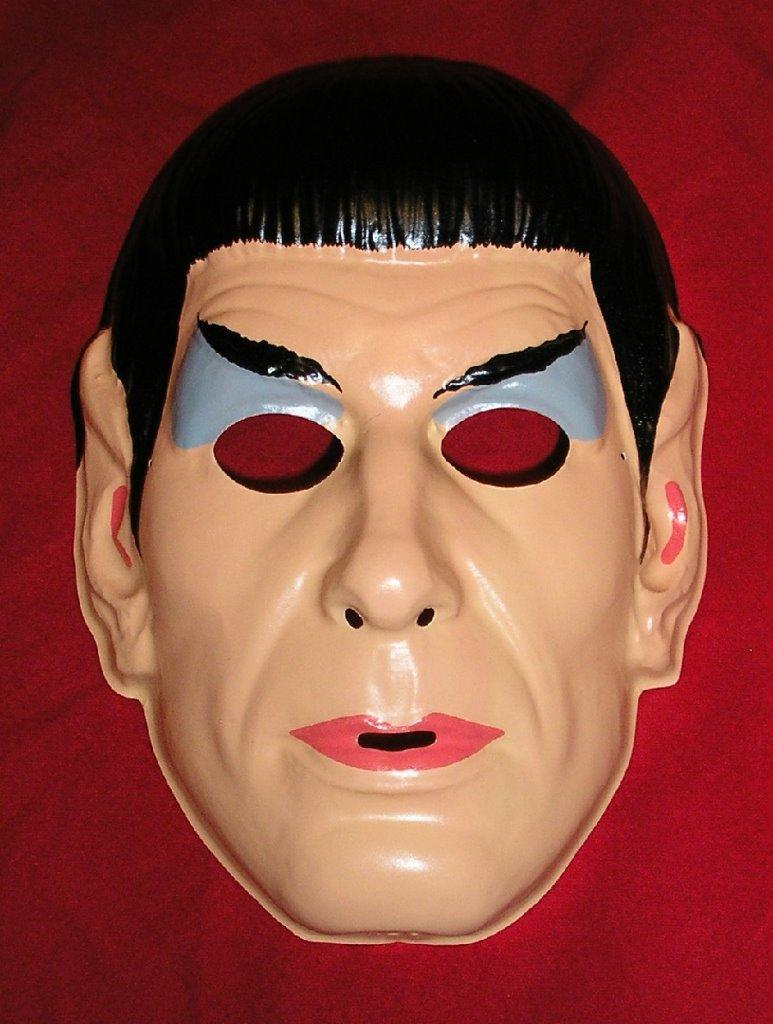 1967 MR SPOCK Halloween Mask - Earliest Produced - Old Stock ...