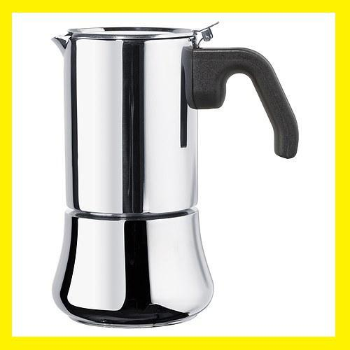 Metal Coffee Maker For Stove : Stove Top Stainless Steel Espresso Coffee Maker 6 CpNEW