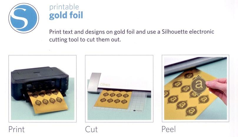 Handy image intended for silhouette printable gold foil