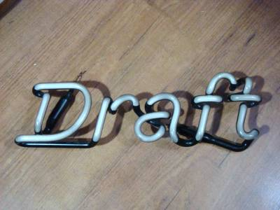 miller genuine draft broken beer neon light sign for. Black Bedroom Furniture Sets. Home Design Ideas