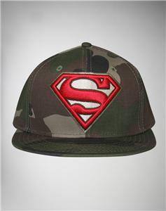 new licensed dc comics superman camo snapback hat
