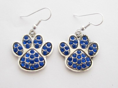 Blue Wildcat Paw Print http://www.ebay.com/itm/Kentucky-Wildcats-Blue-Paw-Print-Crystal-Fashion-Earrings-Jewelry-UK-/300626644227