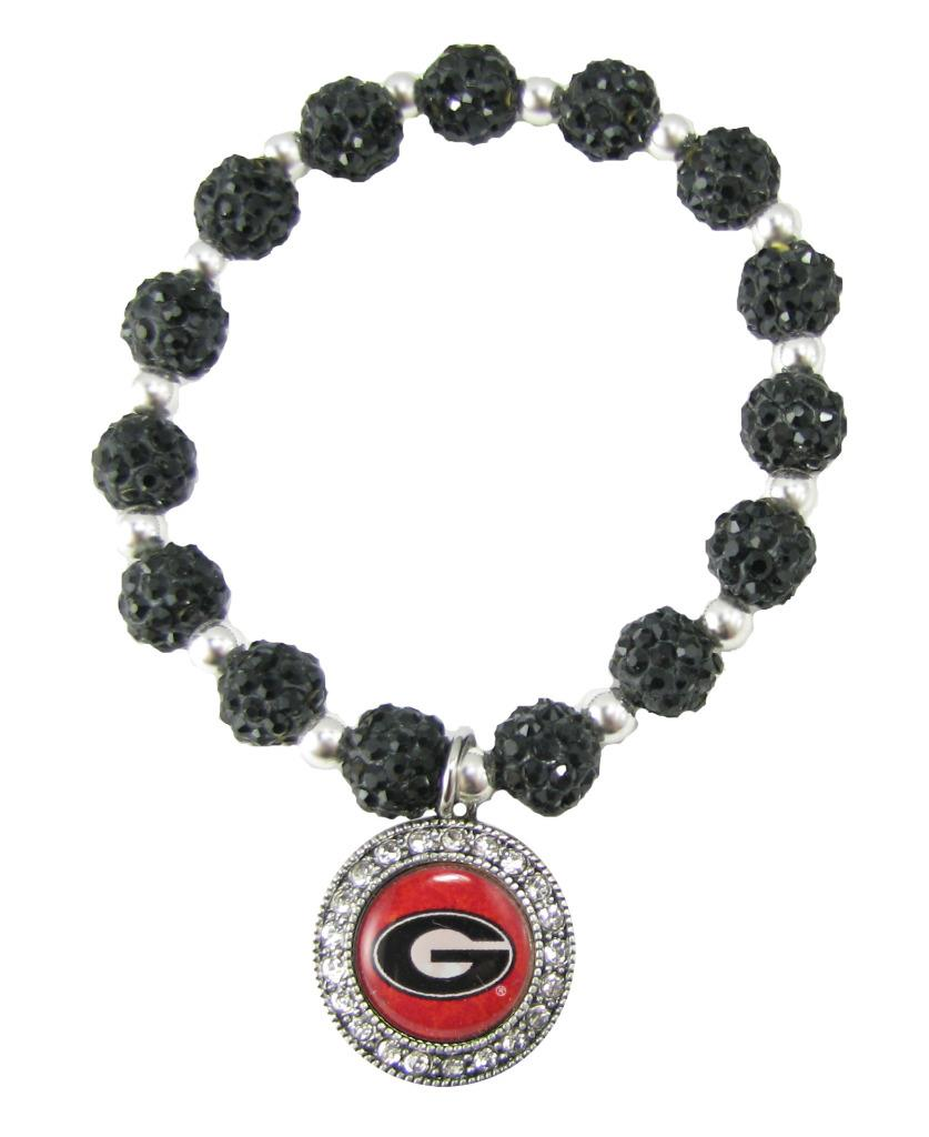 NCAA Collegiate Licensed Jewelry Bead Stretch Bracelet ...