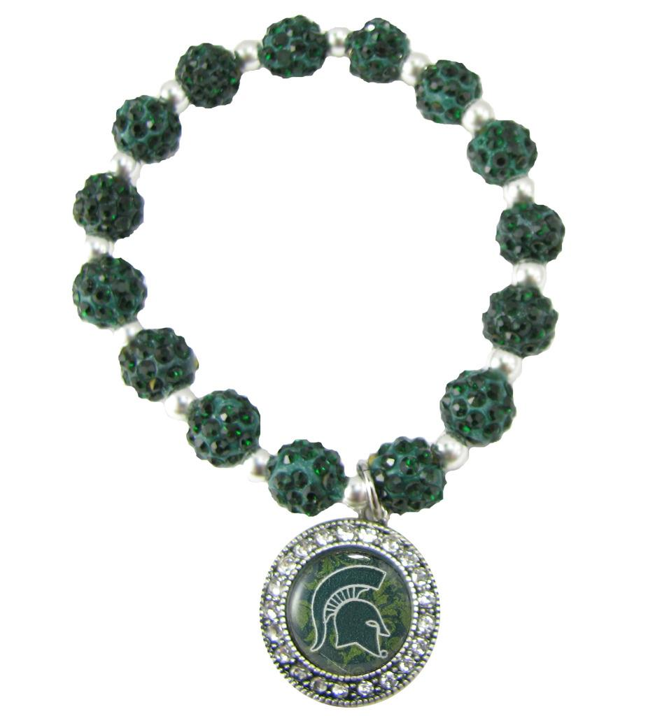 ncaa collegiate licensed jewelry bead stretch bracelet