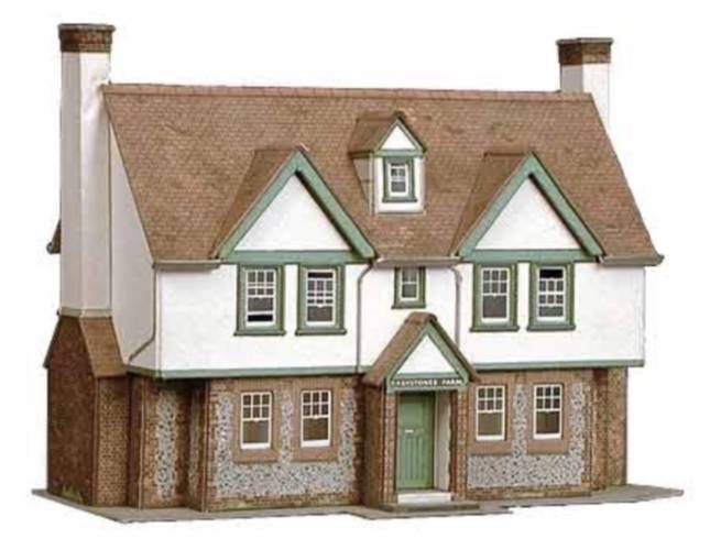 Superquick card kits series b country town buildings multi for Farmhouse building kits