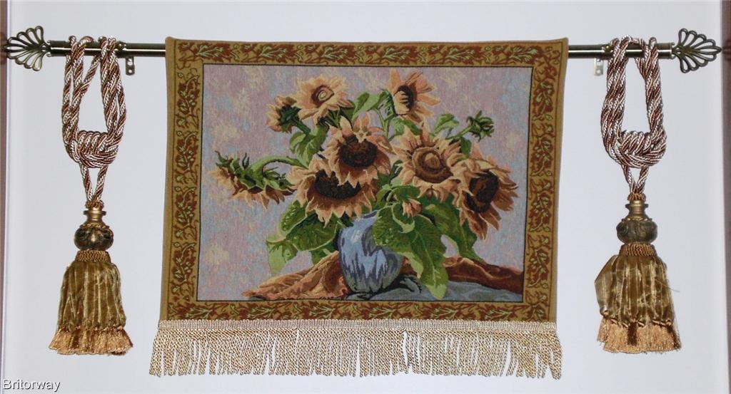 Tapestry Wall Hanging Sunflowers Fine Art Floral Decor