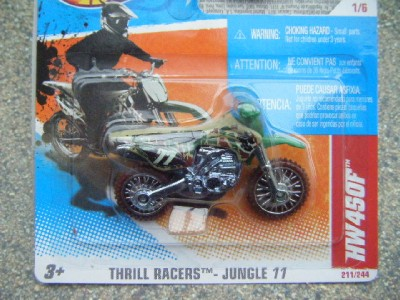 hot wheels 2011 211 244 hw 450f dirt motor bike motocross. Black Bedroom Furniture Sets. Home Design Ideas