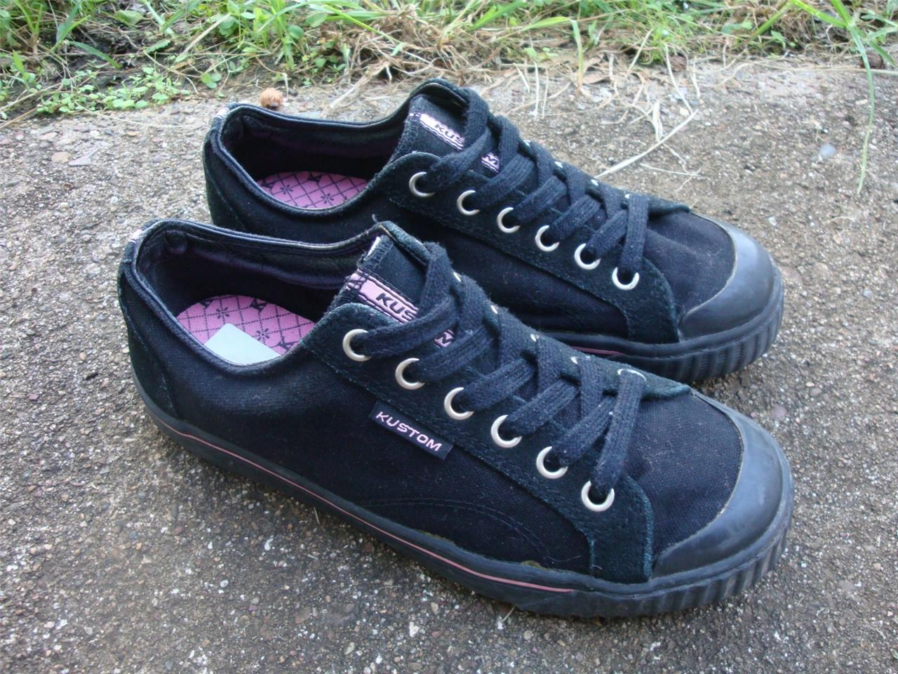 KUSTOM-Girls-Size-7-Black-Skate-Sneaker-Sand-Shoes-MUST-SEE