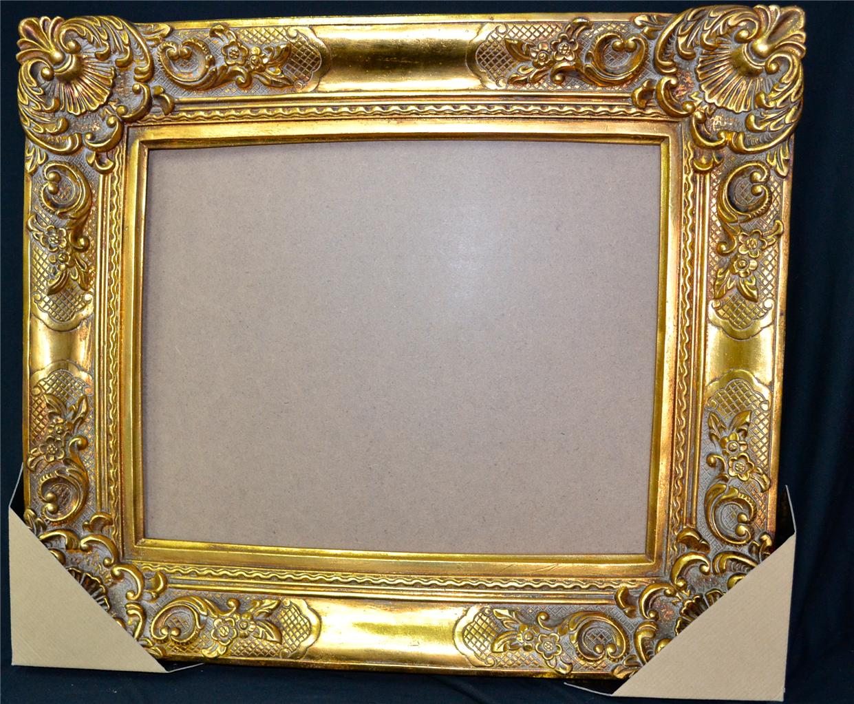 New antique french style wall mirror gold frame only ebay for Antique style wall mirror