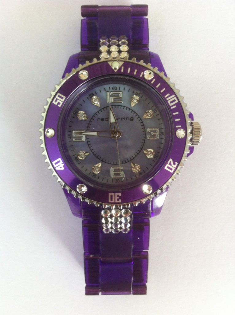 Ladies lightweight bracelet style crystal watch made with swarovski elements for Swarovski crystals watch